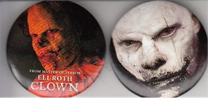 Clown movie 2016 Comic-Con button or pin set (Eli Roth)