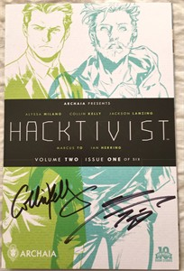 Collin Kelly and Jackson Lanzing autographed Hacktivist Vol. 2 issue #1 comic book