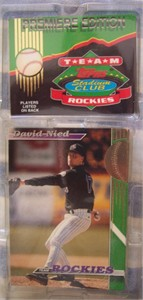 Colorado Rockies 1993 Stadium Club Team 30 card set (Dante Bichette Vinny Castilla Andres Galarraga)