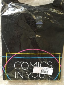 Image Comics black Comics In Your Image T-shirt LARGE NEW