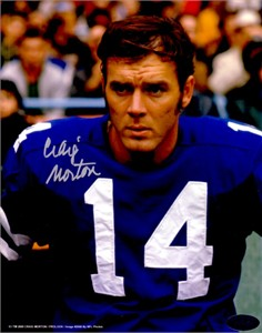 Craig Morton autographed 8x10 Dallas Cowboys photo