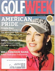 Cristie Kerr autographed 2005 Golf World magazine