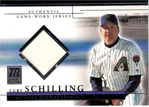 Curt Schilling Arizona Diamondbacks 2002 Topps Reserve game worn jersey card