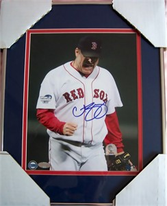 Curt Schilling autographed Boston Red Sox 2004 World Series 8x10 photo matted & framed (Steiner)