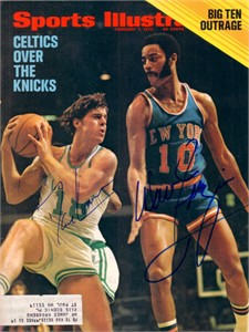 Dave Cowens & Walt Frazier autographed 1972 Sports Illustrated cover