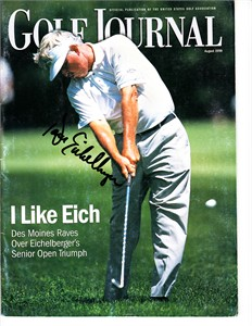 Dave Eichelberger autographed 1999 Golf Journal magazine