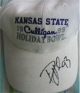 Darren Howard autographed Kansas State Wildcats 1999 Holiday Bowl cap or hat