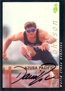 Dave Johnson (decathlon) autographed 1992 Classic World Class Athletes card