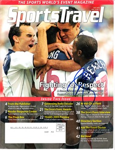 DaMarcus Beasley autographed U.S. Soccer 2005 SportsTravel magazine cover