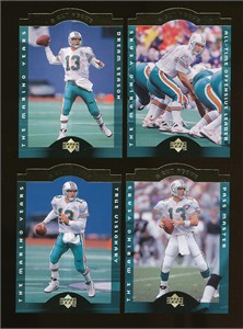 Dan Marino 1996 Upper Deck A Cut Above football 10 insert card set