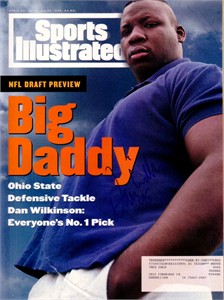 Dan Wilkinson (Ohio State) autographed 1994 Sports Illustrated