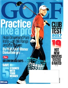 Daniel Berger autographed 2017 Golf magazine cover