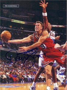 Dan Majerle autographed Miami Heat full page magazine photo