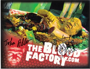 Danny DeVito autographed The Blood Factory 2010 Comic-Con promo photo card