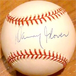 Danny Glover autographed NL baseball