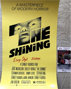 Danny Lloyd autographed The Shining mini 12x18 inch movie poster inscribed REDRUM (JSA)