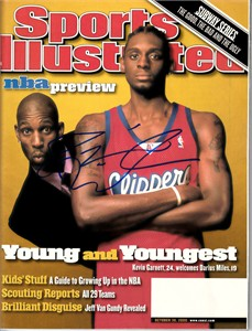 Darius Miles autographed Los Angeles Clippers 2000 Sports Illustrated