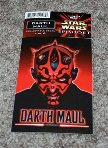 Darth Maul Star Wars Episode 1 decal or sticker