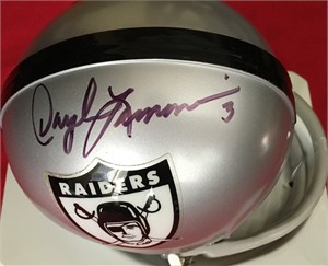 Daryle Lamonica autographed Oakland Raiders throwback mini helmet