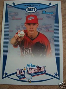 Daniel Tuttle 2008 AFLAC Bowman Rookie Card