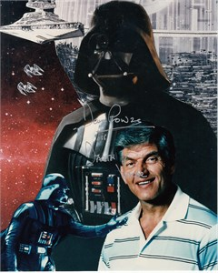 Dave Prowse autographed Star Wars Darth Vader 8x10 Empire Strikes Back photo