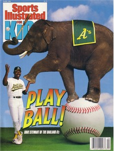 Dave Stewart Oakland A's 1990 Sports Illustrated for Kids magazine