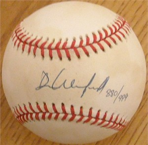 Dave Winfield autographed 1992 World Series baseball #880/999