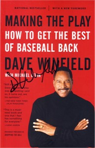 Dave Winfield autographed Making the Play book