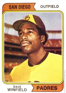 Dave Winfield 1993 Topps Magazine 1974 Rookie Card 5x7 jumbo reproduction