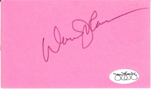 Davey Johnson autographed 3x5 inch index card (JSA)