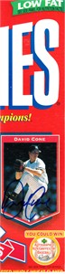David Cone autographed New York Yankees Wheaties box panel