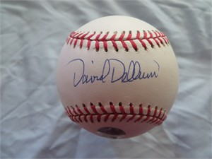 David Dellucci autographed Rawlings Official League baseball (Hidden Authentics)