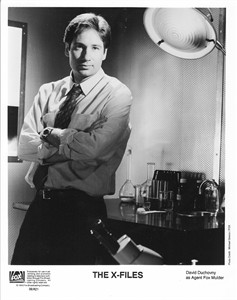 David Duchovny X-Files original 8x10 black & white publicity photo