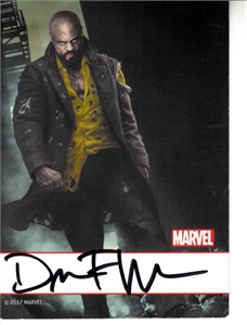 David F Walker autographed Power Man & Iron Fist Marvel 2017 Comic-Con card