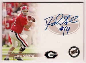 David Greene certified autograph Georgia Bulldogs 2005 Press Pass card