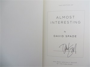 David Spade autographed Almost Interesting hardcover signed first edition book