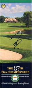 Davis Love III autographed 2005 PGA Championship pairings guide