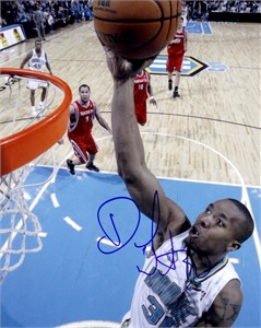 David West autographed New Orleans Hornets 8x10 photo