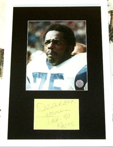 Deacon Jones autographed paper matted & framed with Los Angeles Rams 8x10 photo