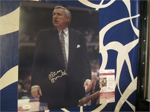 Dean Smith autographed UNC North Carolina Tar Heels 11x14 photo JSA