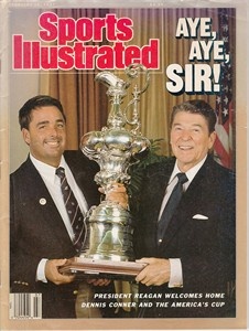 1987 America's Cup Sports Illustrated (Dennis Conner & Ronald Reagan cover)