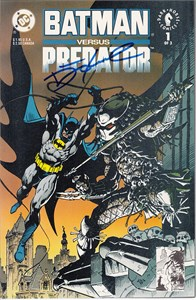 Dennis O'Neil autographed Batman vs. Predator comic book or graphic novel