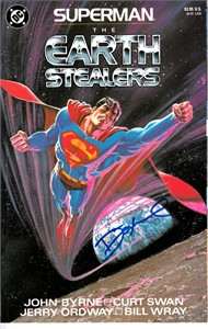 Dennis O'Neil autographed Superman The Earth Stealers comic book or graphic novel
