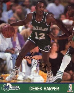Derek Harper autographed Dallas Mavericks 8x10 photo
