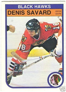 Denis Savard Chicago Blackhawks 1982-83 OPC card  73Denis Savard Blackhawks