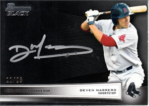 Deven Marrero 2012 Bowman Black certified autograph card #11/25