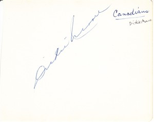 Dickie Moore autographed autograph album or book page (JSA)