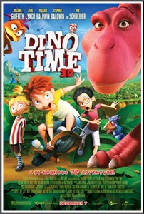 Dino Time 3D 2013 mini movie poster (Jane Lynch Rob Schneider Tara Strong)