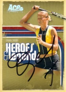 Dinara Safina autographed 2006 Ace Authentic tennis card
