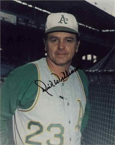 Dick Williams autographed Oakland A's 8x10 photo